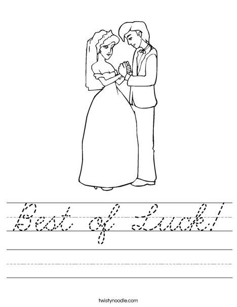 Bride and Groom Worksheet