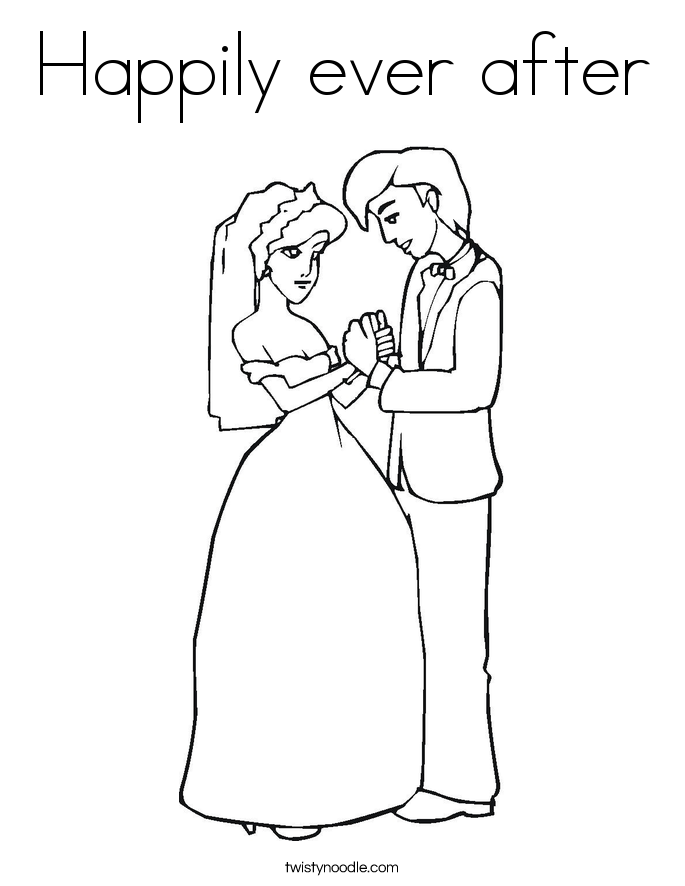 Happily ever after Coloring Page