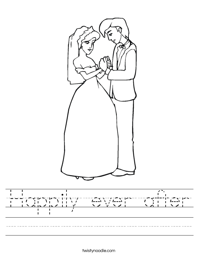 Happily ever after Worksheet