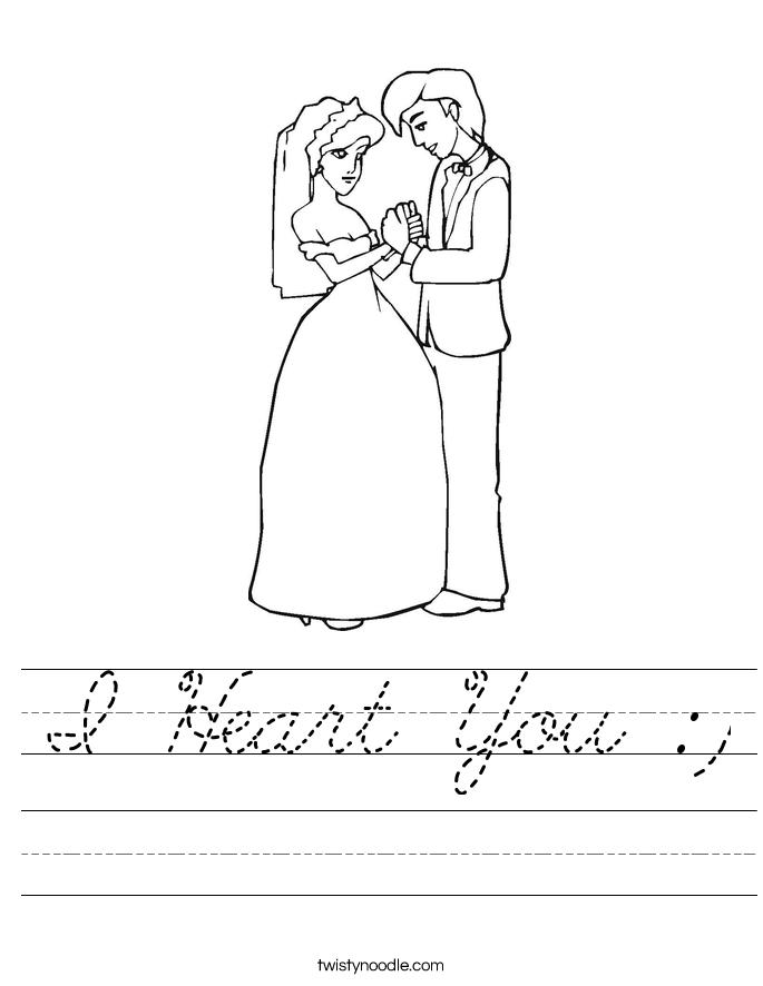 I Heart You :) Worksheet