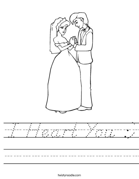 Bride and Groom Worksheet
