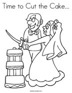 Time to Cut the Cake Coloring Page