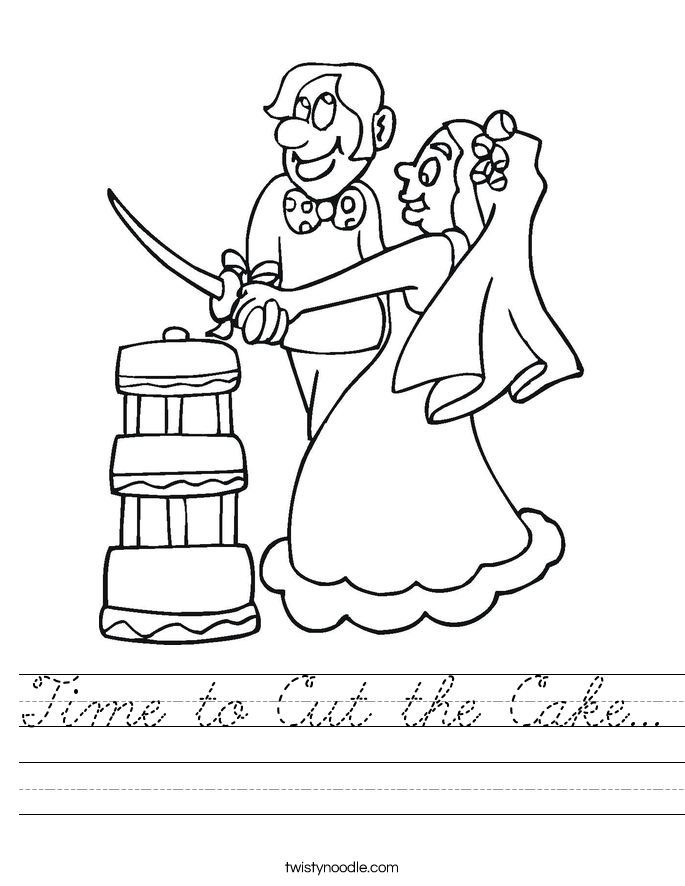 Time to Cut the Cake... Worksheet