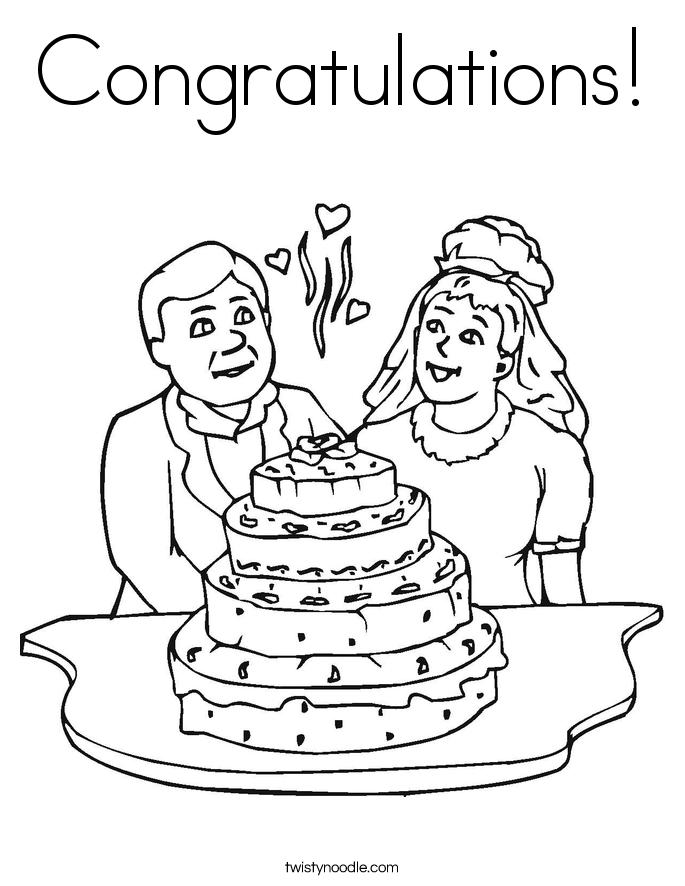 Congratulations Coloring Page - Twisty Noodle