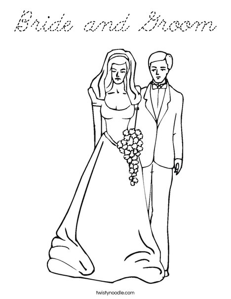 just married coloring pages - photo#23