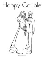 Happy Couple Coloring Page