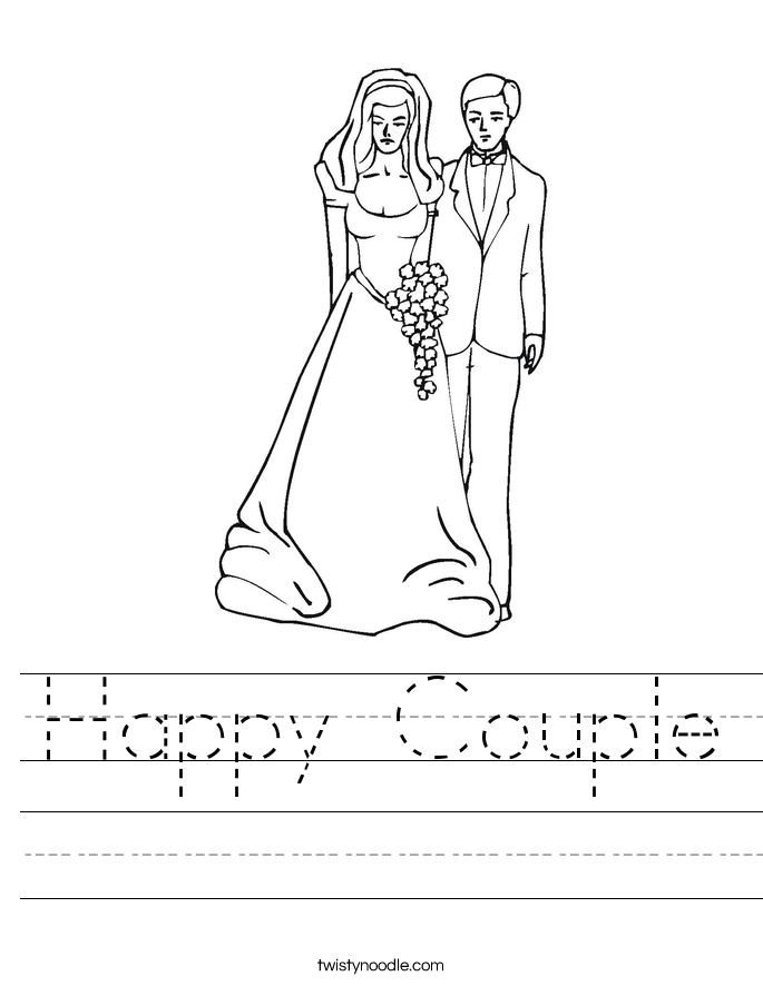 Happy Couple Worksheet