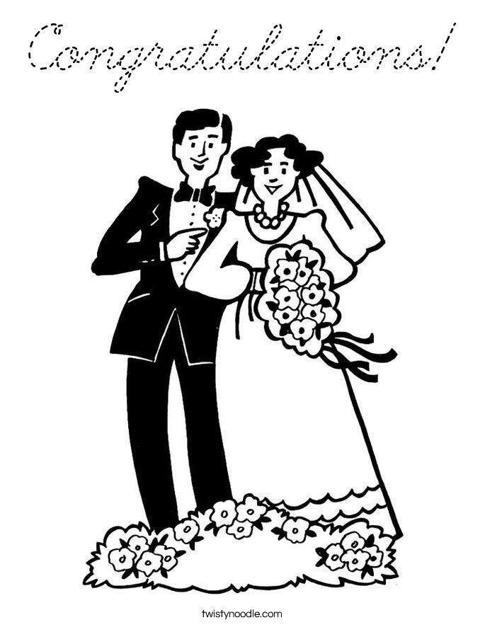 Congratulations Coloring Page