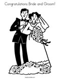 Congratulations Bride and Groom!Coloring Page