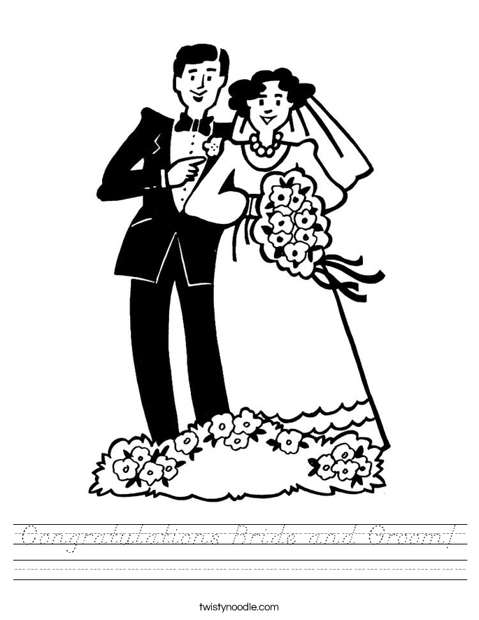 Congratulations Bride and Groom! Worksheet