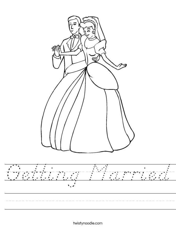 Getting Married Worksheet