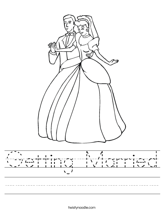 Getting Married Worksheet