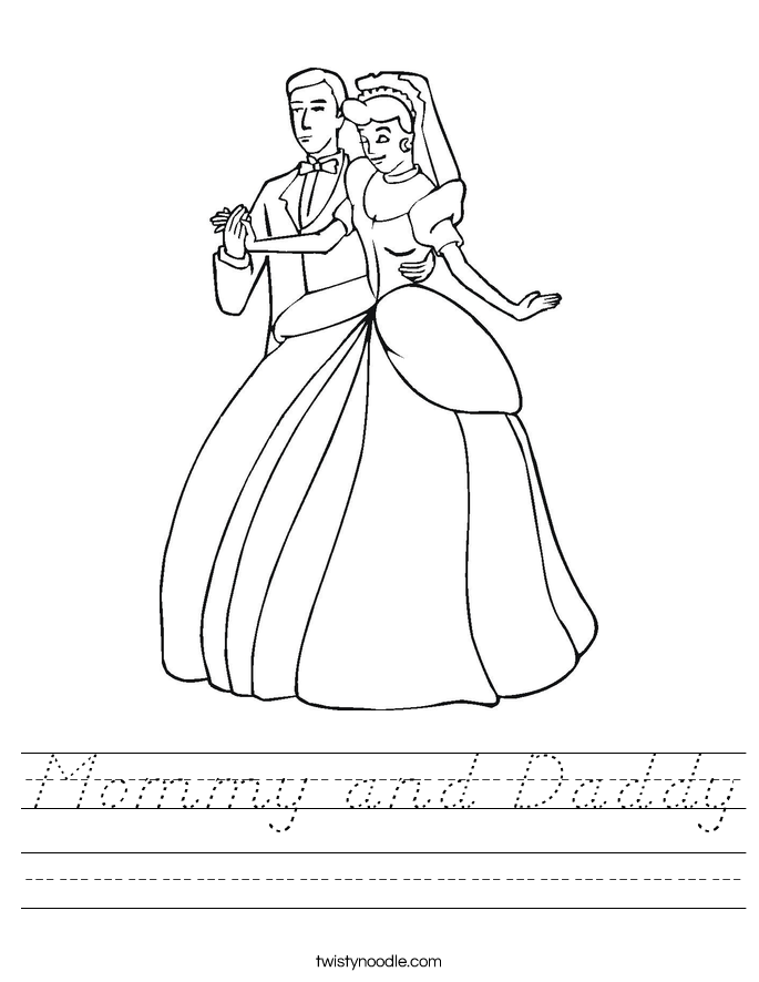 Mommy and Daddy Worksheet