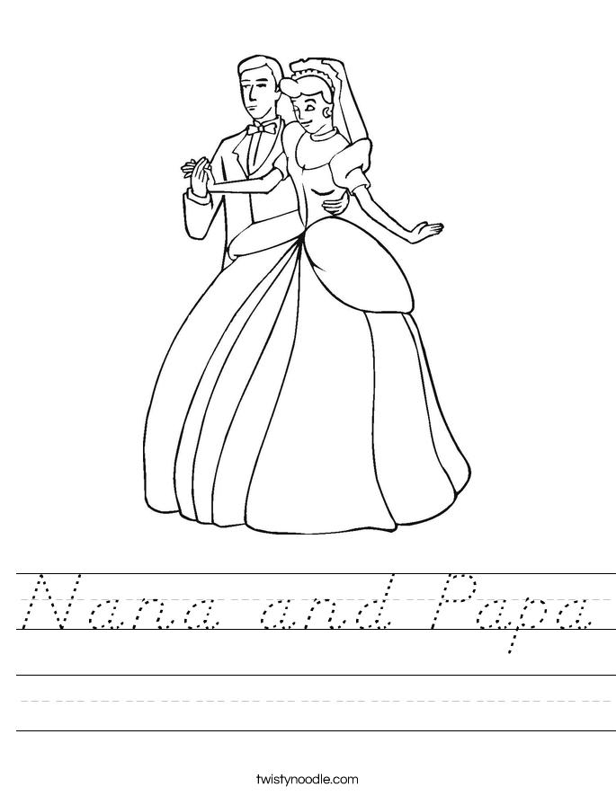 Nana and Papa Worksheet