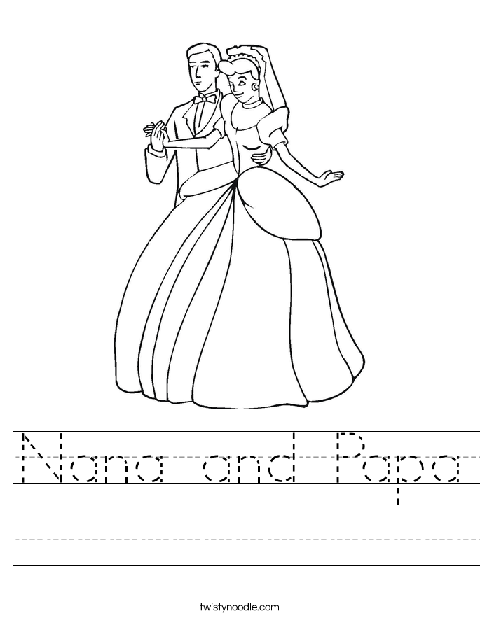 Nana and Papa Worksheet