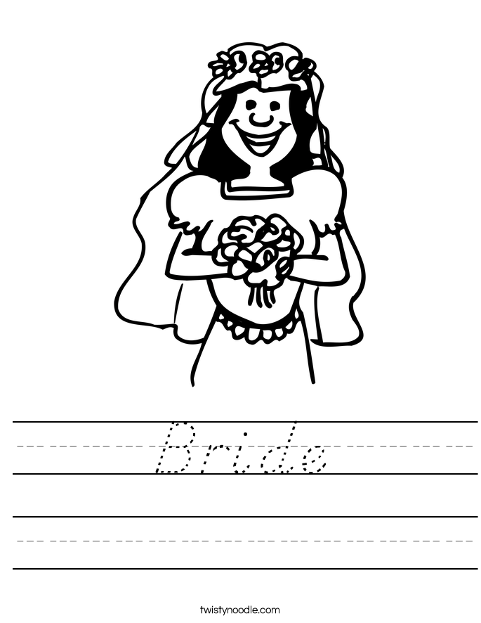 Bride Worksheet