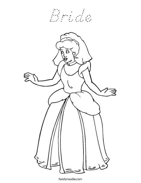 Bride1 Coloring Page
