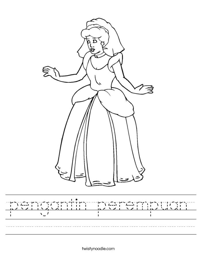 pengantin perempuan Worksheet