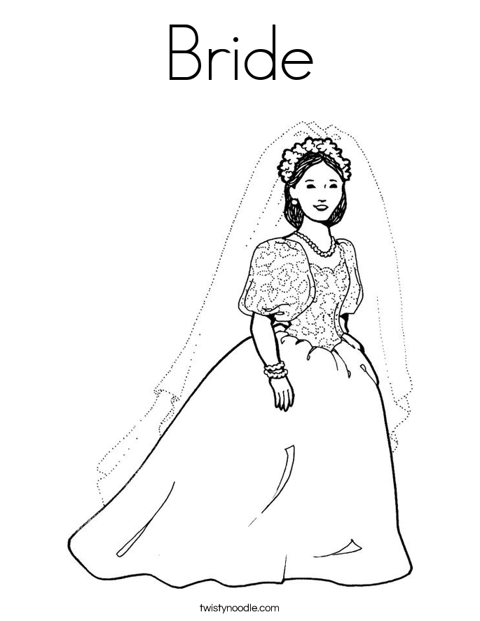 Bride Coloring Page