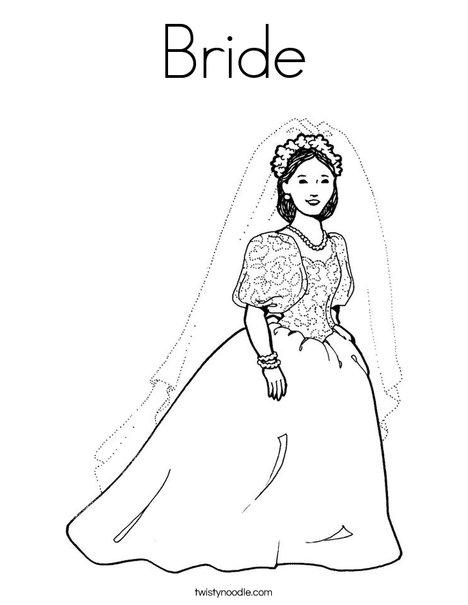 Bride2 Coloring Page