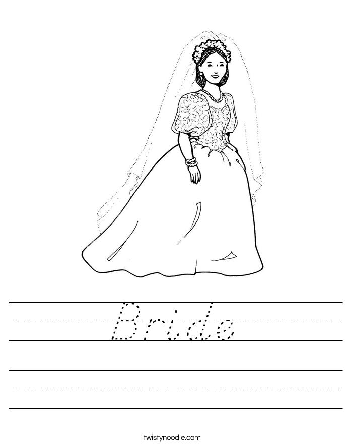 Bride Worksheet
