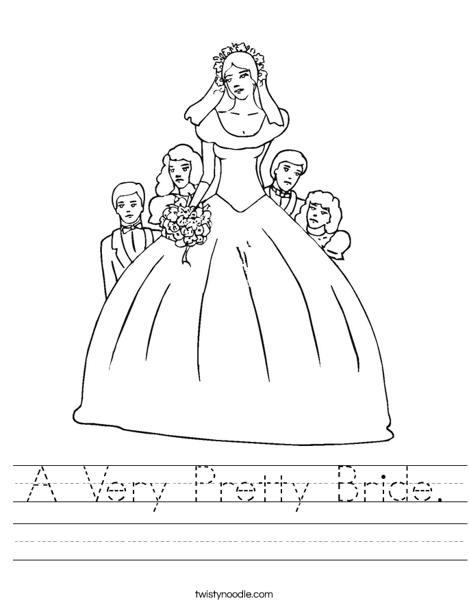 A Very Pretty Bride. Worksheet