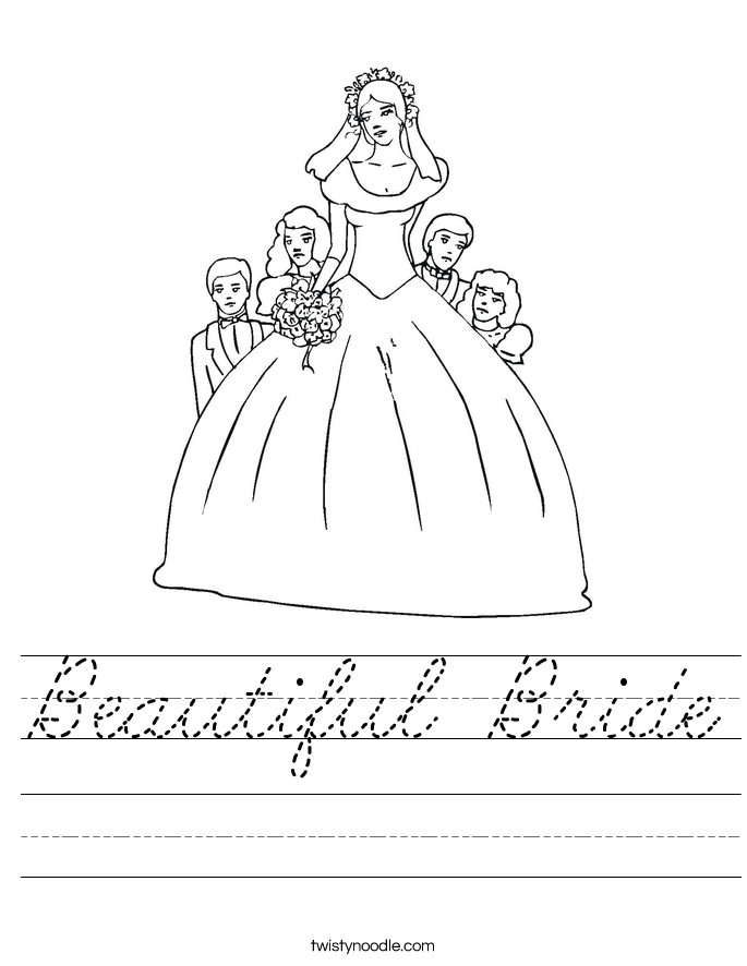 Beautiful Bride Worksheet