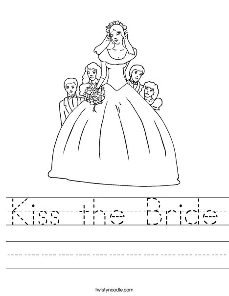 Beautiful Bride Worksheet