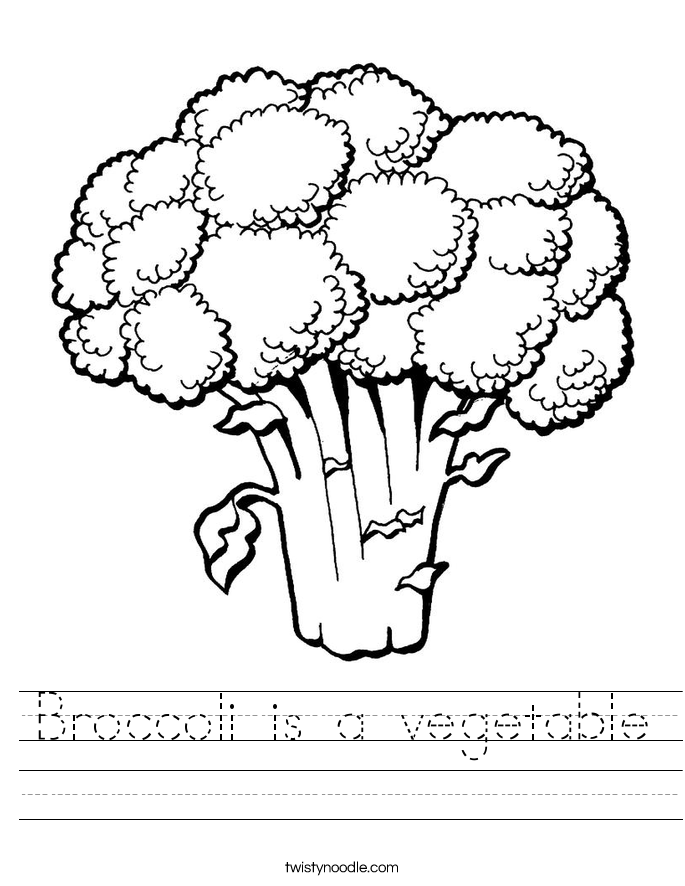 Broccoli is a vegetable Worksheet