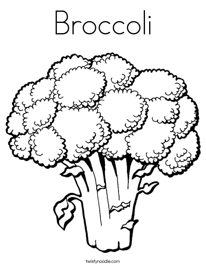 twisty noodle coloring pages - broccoli coloring page twisty noodle