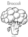 Broccoli Coloring Page