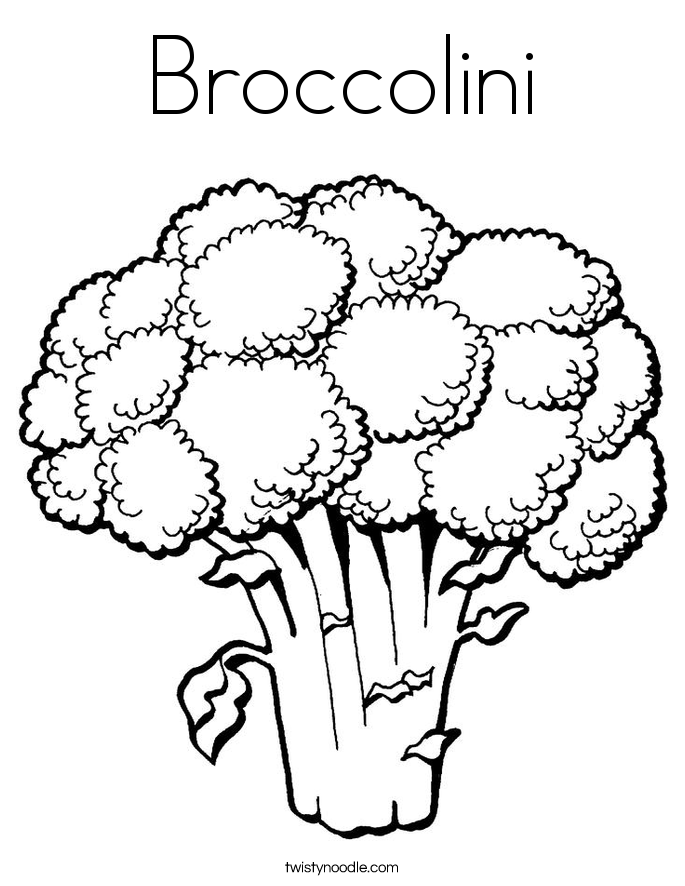 Broccolini Coloring Page