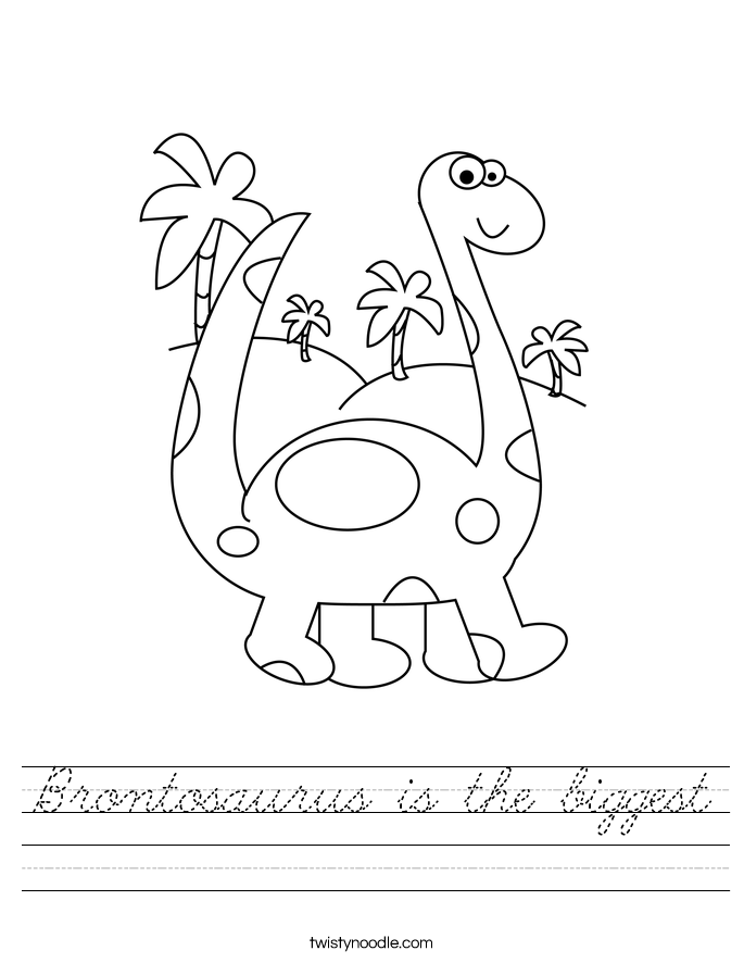 Brontosaurus is the biggest Worksheet