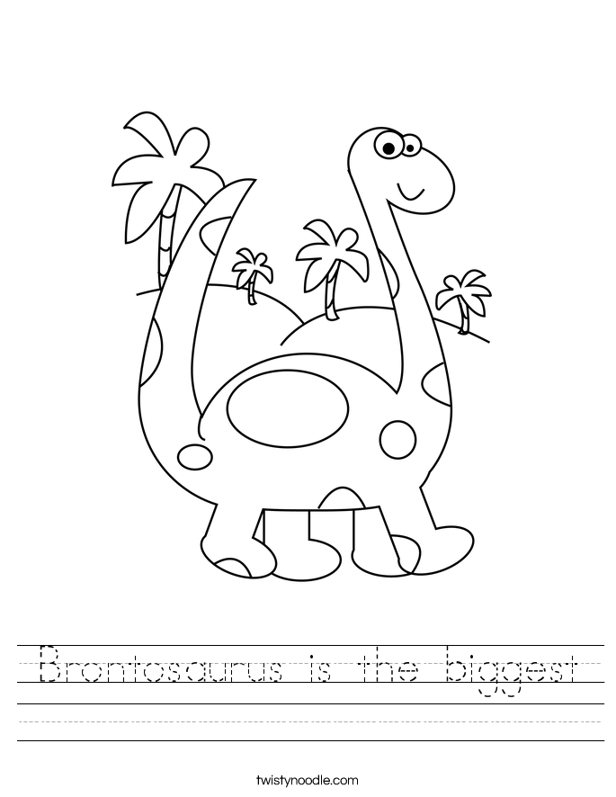 Brontosaurus is the biggest Worksheet