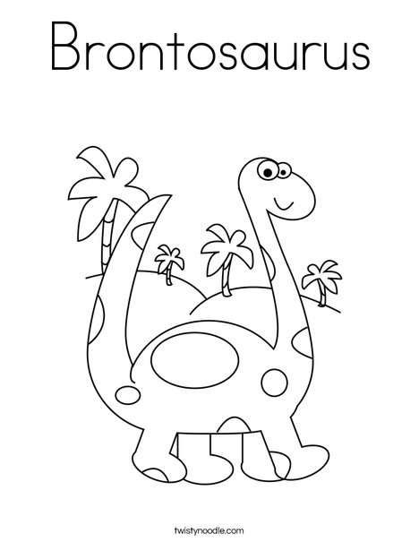Brontosaurus Coloring Page Twisty Noodle