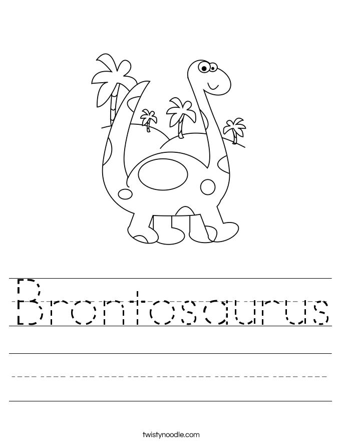 Brontosaurus Worksheet