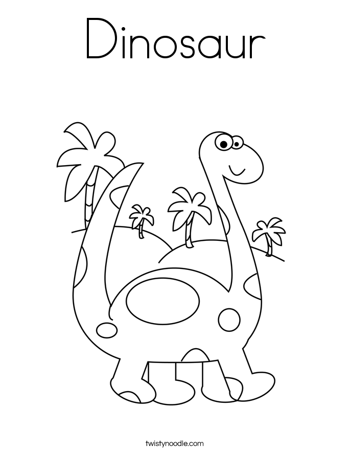Dinosaur Coloring Pages - Twisty Noodle