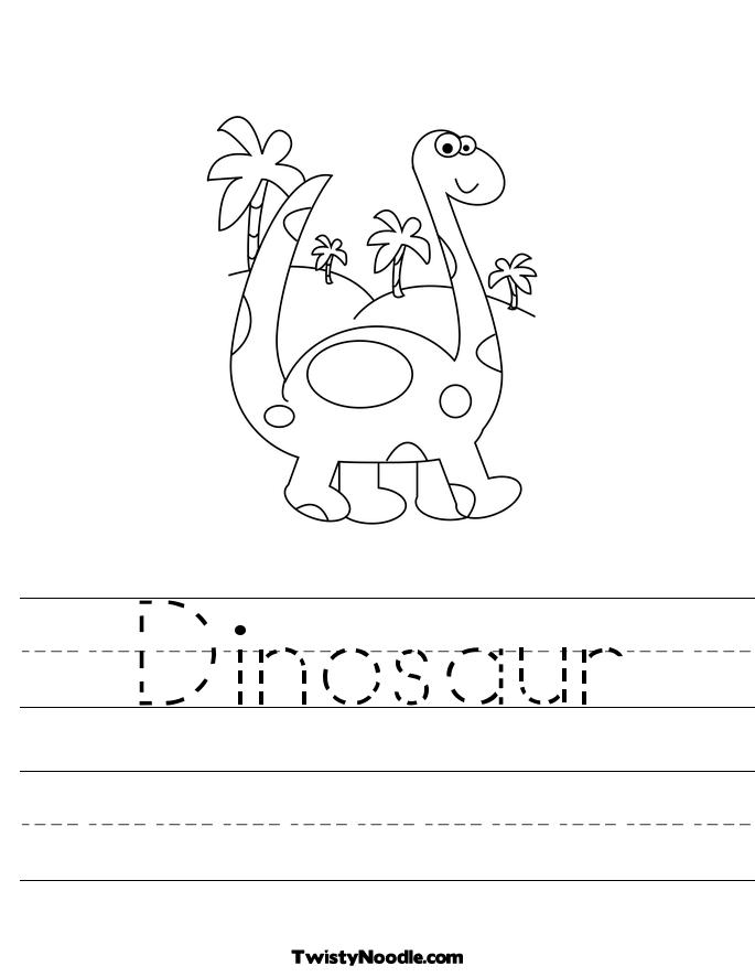 Dinosaur Worksheet Twisty Noodle Picture Images - Frompo