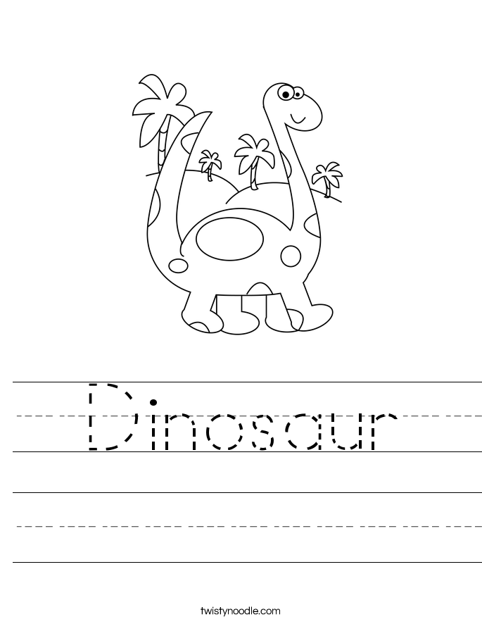 dinosaur worksheet twisty noodle. Black Bedroom Furniture Sets. Home Design Ideas