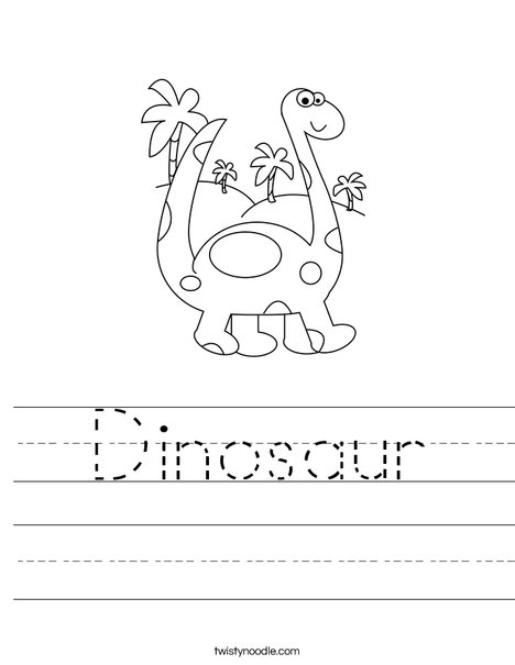 Worksheets Dinosaur Worksheets dinosaur worksheet twisty noodle brontosaurus worksheet