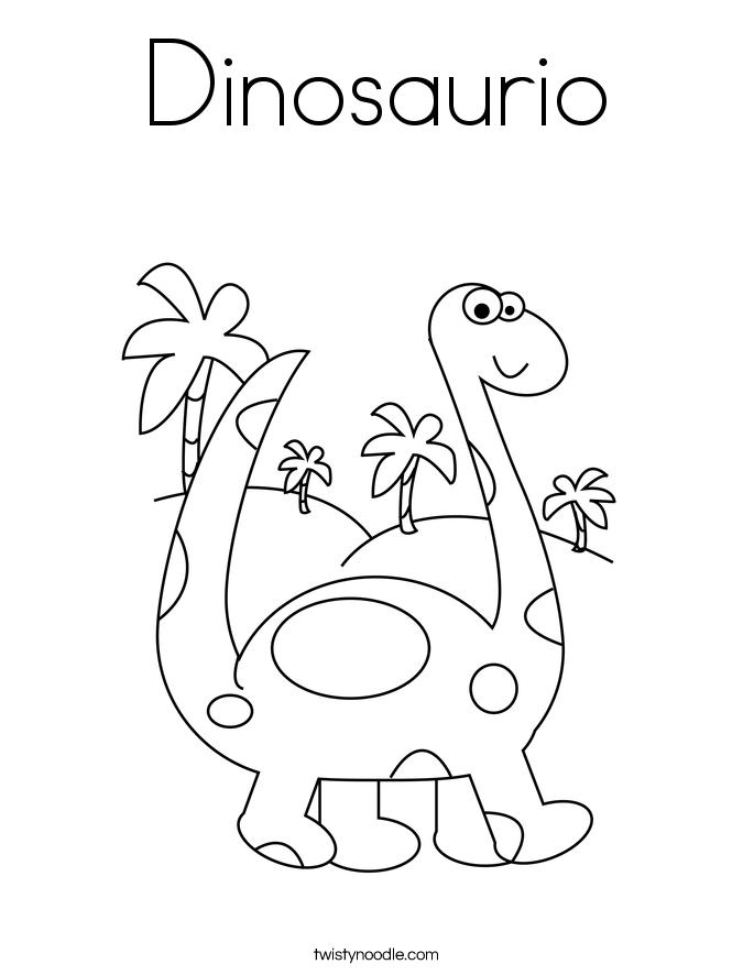 Dinosaurio Coloring Page