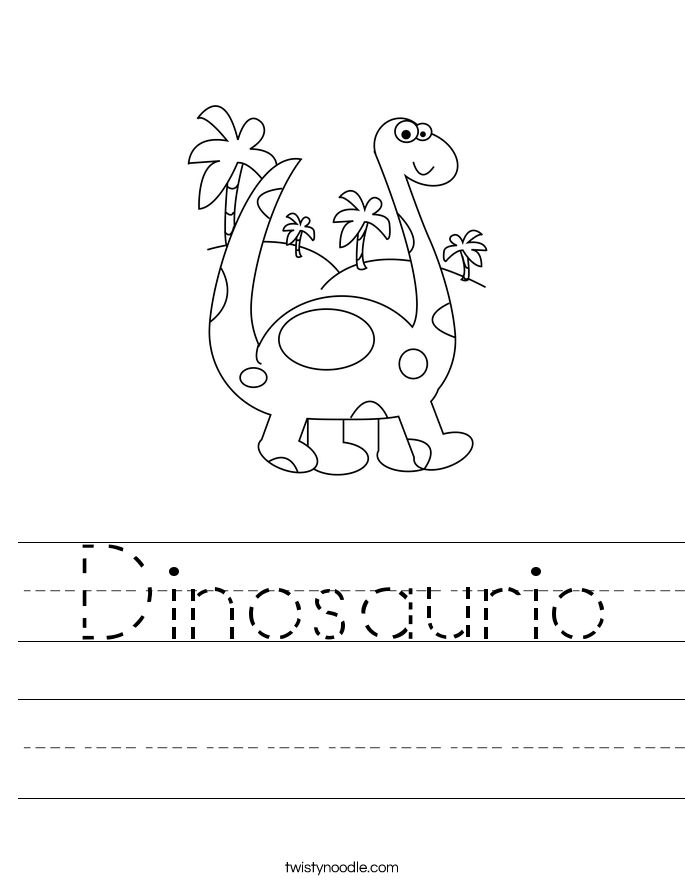 Dinosaurio Worksheet
