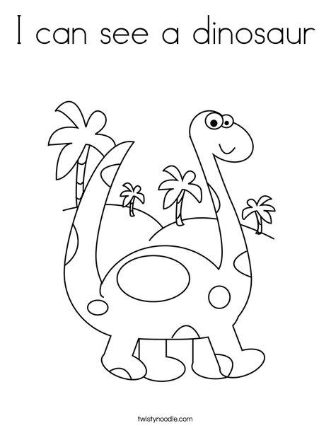 Brontosaurus Coloring Page
