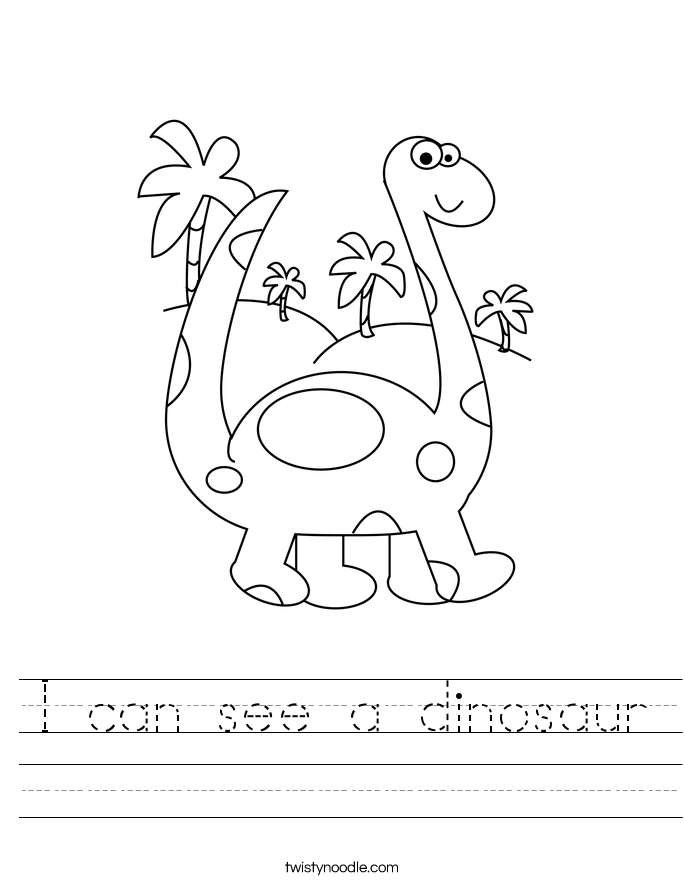 I can see a dinosaur Worksheet