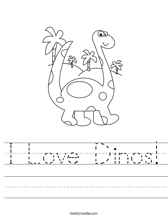 I Love Dinos! Worksheet