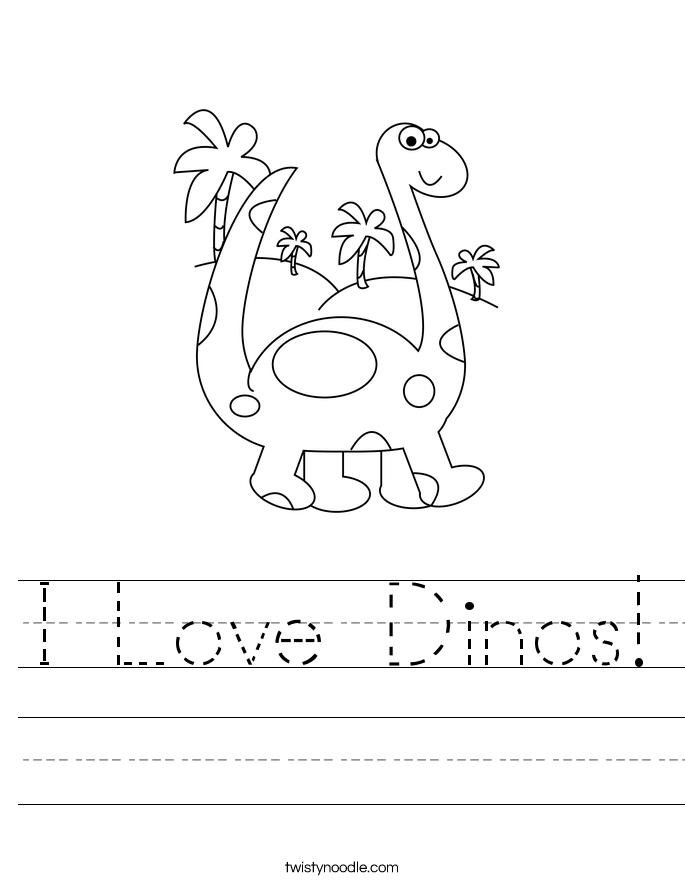 I Love Dinos! Worksheet