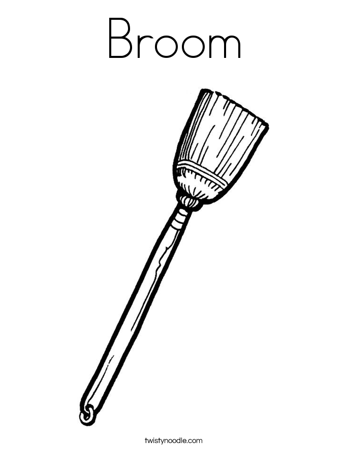 broom coloring pages - photo#1
