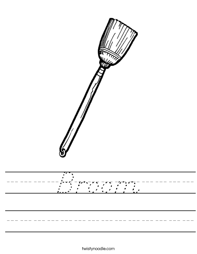 Broom Worksheet