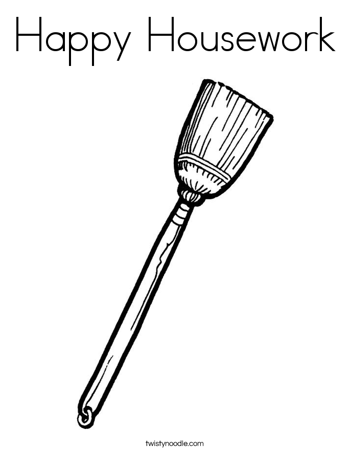 Happy Housework Coloring Page