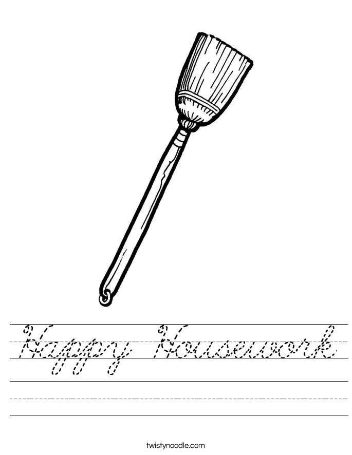 Happy Housework Worksheet